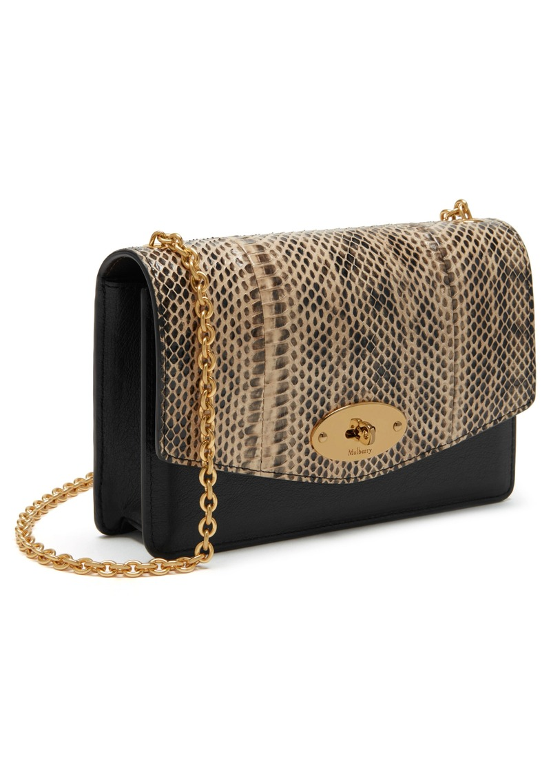 876bec11e470 Mulberry Small Darley Convertible Genuine Snakeskin   Leather Clutch