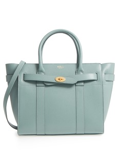 Mulberry Small Zipped Bayswater Calfskin Leather Satchel