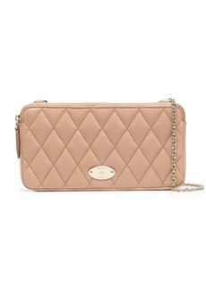 Mulberry quilted chain wallet