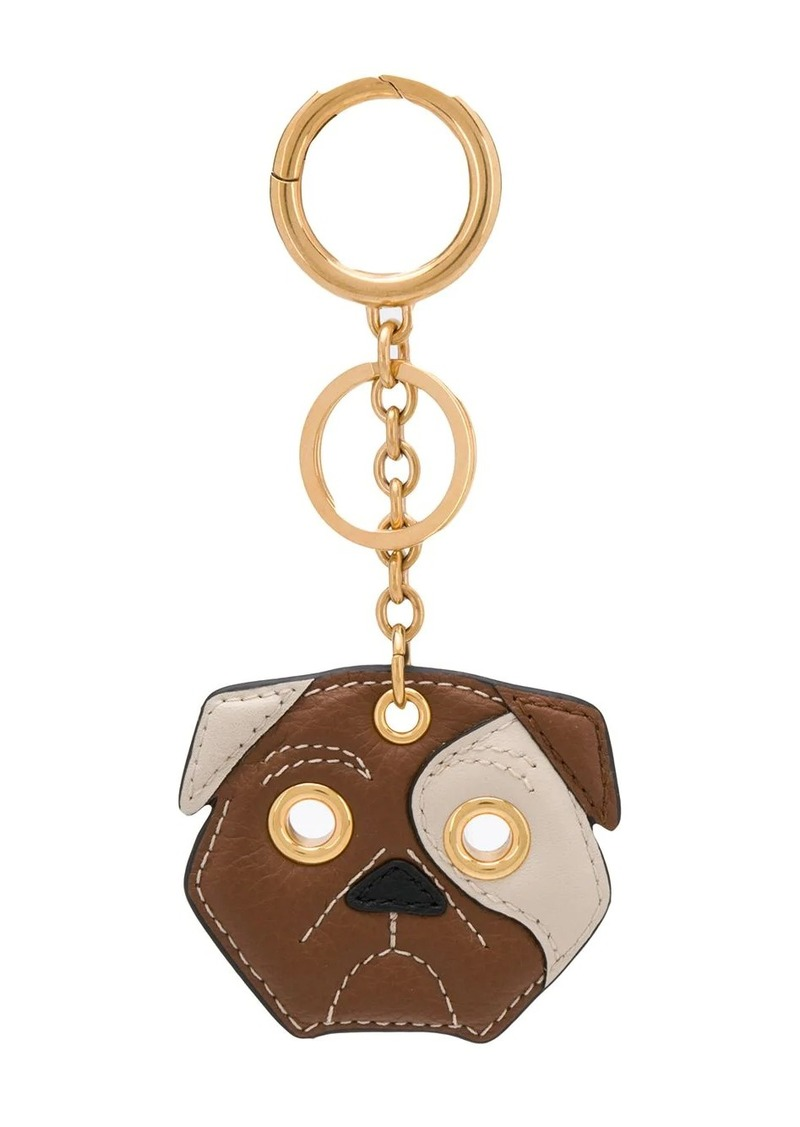 Mulberry small classic grain dog keyring