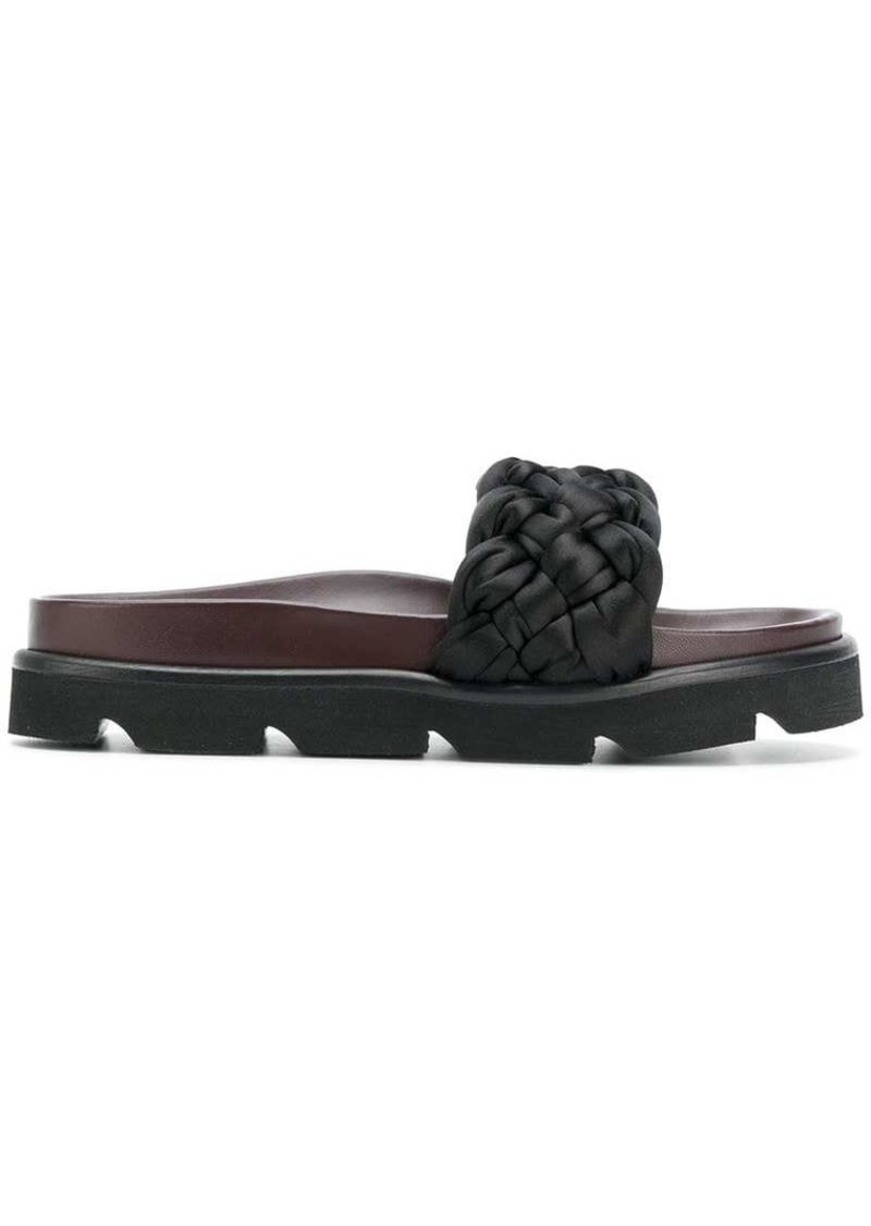 Mulberry woven slider sandals
