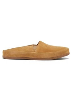 Mulo Backless suede loafers
