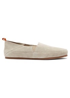 Mulo Foldable heel suede loafers
