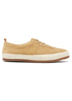 Mulo Panelled suede trainers