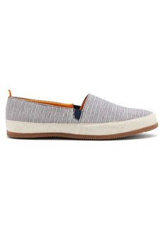 Mulo Striped linen espadrilles