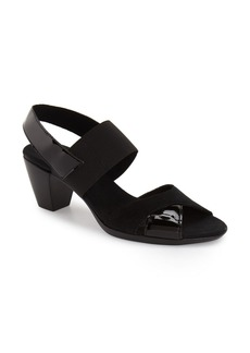 Munro Darling Mixed Finish Slingback Sandal (Women)