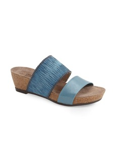 Munro 'Riviera' Two Strap Slide Wedge Sandal (Women)