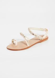 Mystique Jeweled Toe Ring Sandals