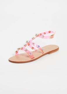 Mystique PVC Jeweled Sandals