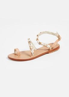 Mystique Sea Shell Strap Toe Ring Sandals