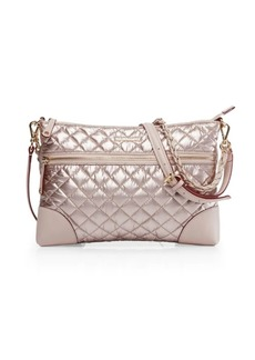 MZ Wallace Medium Crosby Quilted Nylon Crossbody Bag