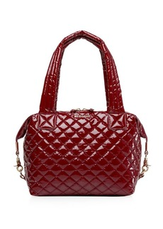 MZ Wallace Medium Sutton Quilted Lacquer Satchel