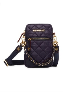 MZ Wallace Micro Crosby Quilted Nylon Crossbody Bag