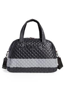 MZ Wallace Jim Quilted Nylon Duffel Bag