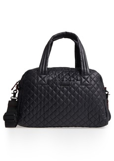 MZ Wallace Jimmy Quilted Nylon Duffel Bag
