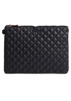 MZ Wallace Metro Quilted Oxford Nylon Zip Pouch