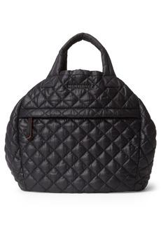 Mz Wallace Metro Water Resistant Nylon Drawstring Bucket Bag - Black