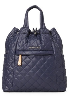 Mz Wallace Small Metro Water Resistant Convertible Backpack - Blue