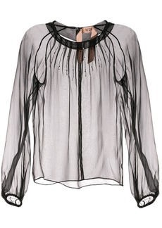 Nº21 beaded sheer blouse