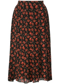 Nº21 candy apple print pleated skirt