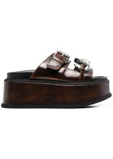 Nº21 chain-embellished platform sandals