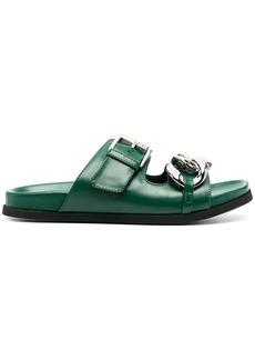 Nº21 chunky chain-embellished slide sandals