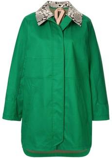 Nº21 contrast-collar coat