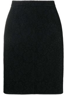 Nº21 contrast-zip jacquard-effect skirt