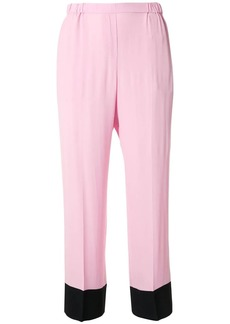 Nº21 contrasting hems trousers