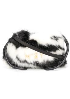 Nº21 Eva Eco Zebra-Stripe Fur Drawstring Bag