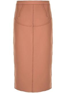 Nº21 exposed-zip panelled pencil skirt