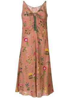 Nº21 floral embroidered midi dress
