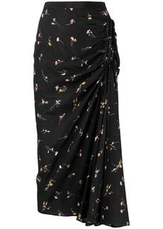 Nº21 floral-print midi skirt
