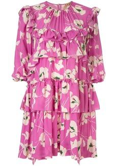 Nº21 floral print tiered mini dress