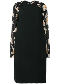 Nº21 floral sleeve silk dress