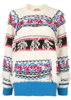 Nº21 fringed embroidered jumper