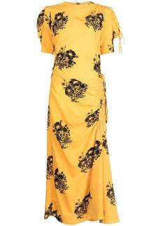 Nº21 gathered floral-print dress
