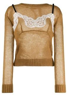 Nº21 lace inlay jumper