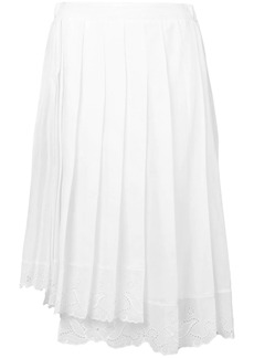 Nº21 lace trim pleated skirt