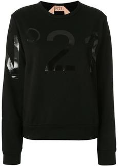 Nº21 laminated logo sweatshirt