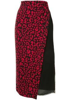 Nº21 Layered Animalier-Print Skirt