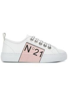 Nº21 logo print low top sneakers