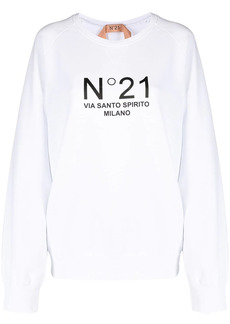 Nº21 logo-print sweatshirt