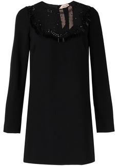 Nº21 mesh inlay shift dress