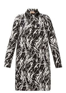 Nº21 No. 21 Zebra-print double-breasted cotton & PVC coat