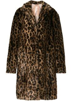 Nº21 oversized leopard print coat