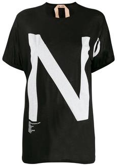 Nº21 oversized logo print T-shirt