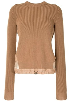 Nº21 panelled drawstring-waist jumper