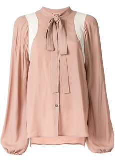 Nº21 panelled pussy bow blouse