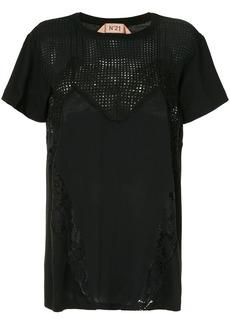 Nº21 panelled T-shirt